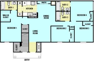 4 x 3 floorplans